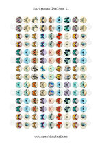 126 Imágenes vintage de mariposas II *Nuevas* 14x14mm