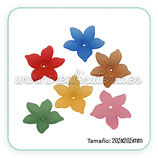 FLORLUCIT 04 -Flores acrílicas 20,5x4,5mm colores mates (6 Unidades) CSF669-M