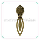 Marcapáginas camafeo bronce viejo coronita 18x18mm MAROOO-PZX011-AB-FF