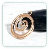 Colgante CELTA dorado Espiral / ola  C0093099 (1 unidades)