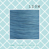 Cordón macramé 1mm Carrete  120metros Calidad suprema color azul claro  M08SBLUE
