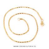 Cadena sencilla con cierre dorada tubular 43,5 cm HIPOALERGENICA-C67