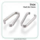INOX - ANILLA tipo clip acero inoxidable 10x5.5x1.5mm P12A (20 unidades)