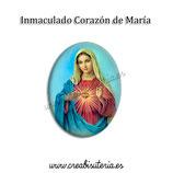 Cabuchón Cristal Religión - Inmaculado Corazón de María