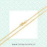 Cadena sencilla con cierre dorada extralarga 77cm HIPOALERGENICA-C48