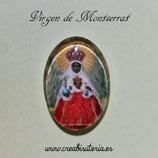Cabuchón Cristal Religión - Virgen de Montserrat