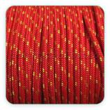Cordón de Nylon de Escalada Redondo 3mm marinero, rojo y pizcas amarillas  (3 metros)