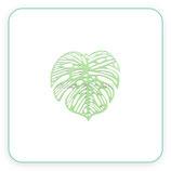 Hoja tropical filigrana lacada en verde K040 (2 unidades)
