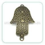 Conector espiritual - Mano de Fatima labrado grande C02943