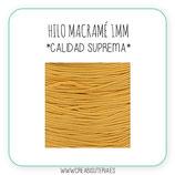 Cordón macramé 1mm  Calidad Suprema  Color Amarillo anaranjado  (5 metros)