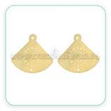 CONECTOR PENDIENTE B - 02111 -   Filigrana lisa puntos - Abanico liso dorado(2 unidades) PENOOO-C56830