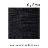 Cordón macramé Gama Deluxe 0,8mm  Color negro  (5 metros)