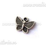 Charm mariposa 023 -  pequeña cuadraditos (10 unidades)CHAOOO-C000583