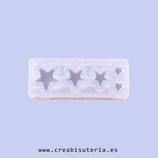 Molde de silicona , rectangular, 5 estrellas MS003