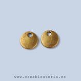 Charm mini - medallita redonda mini bronce viejo 8mm P04 (20 piezas)