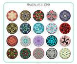 20 Imágenes de mandalas II 30x30mm