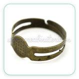 Anillo bronce antiguo adaptable pequeño basic 16,7mm (20 unidades) C15075H