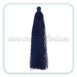 Adorno Borla  color azul marino larga grande - 4unidades