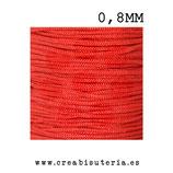 Cordón macramé Gama Deluxe 0,8mm  Color rojo  (5 metros)