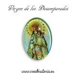 Cabuchón Cristal Religión - Virgen de los Desamparados