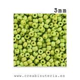 Abalorios -  Cristal de colores rocalla 3mm color sólido verde pistacho