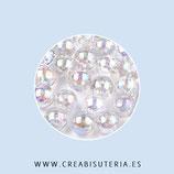"""Abalorio acrílico transparente 4mm modelo """"Burbuja"""" P026 (100 unidades aprox.)"""