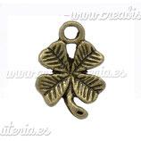 Charm suerte trebol rabito bronce antiguo (10 unidades) CHAOOO-C12792