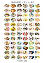72 Imágenes de Ilustraciones vintage infantil 001 18x25mm