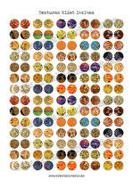 140  texturas Klimt 14x14mm