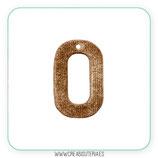 Colgante Resina - Aro terciopelo marrón dorado - Pareja (2 unidades)