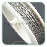 Hilo de alambre de acero plateado 0.35mm (50metros) HIL- P035mm