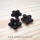 FLORLUCIT 53 - Flores acrílicas 20mm color negro FL53N  (20 unidades)