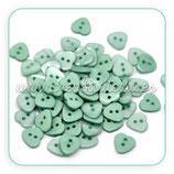 Botones corazón turquesa BOTOOO-L13 (15 unidades)