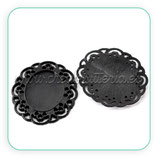 Camafeo oval ornamental negro 19x25mm CAMBAS-C21709 (10 unidades)
