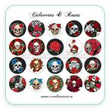 Imágenes para camafeos - Calaveras y Rosas