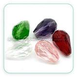 Abalorio cristal facetado lágrima ABA-C04790
