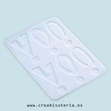 Molde de silicona , Piezas variadas para pendientes, colgantes, etc (modelos irregulares originales) MS028