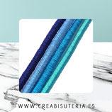 Cordón de goma Lote 4 azules 5 metros de cada  (20metros)