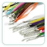Correa collar cuerda y organza colores COR-C22649