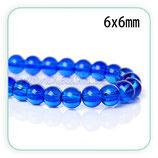 Abalorio cristal Azul marino 6mm ( tira de 140 abalorios aprox) ABAL-Cristal C50779H