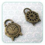Charm Reloj despertador bronce viejo  (4 unidades) CHAOOO-R01133b