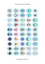 50 imágenes nautica 18x25mm