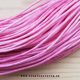 Cordón algodón encerado color Rosa 1,5mm (4 metros)