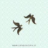Charm ANIMALES - Pájaros - 09- Pájaro reversible  (9 unidades)
