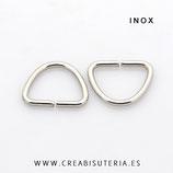 INOX - Anilla triangular redondeada para cinta P04003 (20 unidades)