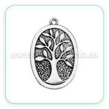 Colgante Árbol de la vida oval vertical ZAMAK new*plata vieja COLOOO-C0097176