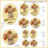 Imagen nena vintage y flores 001