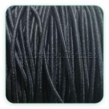 Cordón de goma negro 2mm (4 metros)