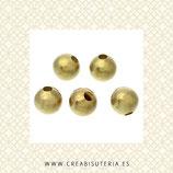 Entrepieza dorada - Bolas de cobre de 5mm interior de 1,7mm  C17 (30 unidades)