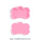 Molde de silicona , rosa, hueso perro / mascota  MS012